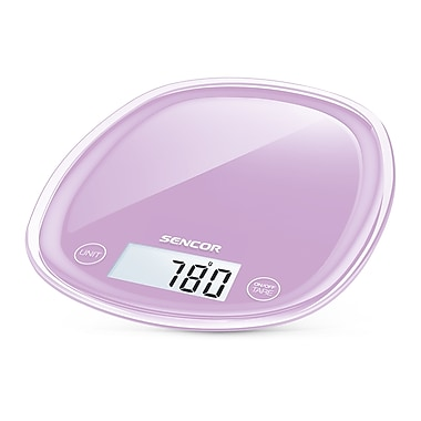 Sencor Digital Kitchen Scale with LCD Display, Lilac Mauve (SKS 35VT-NA)