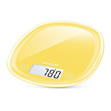 Sencor Digital Kitchen Scale with LCD Display, Sunflower Yellow (SKS 36YL-NA)
