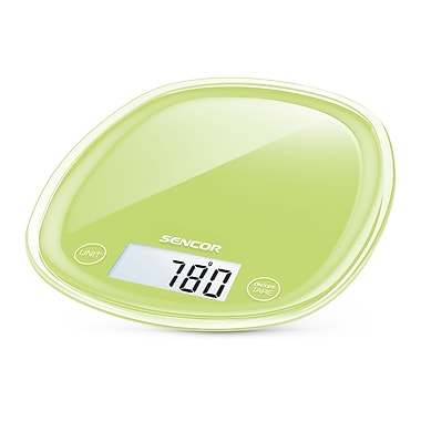 Sencor Digital Kitchen Scale with LCD Display, Lime Green (SKS 37GG-NA)