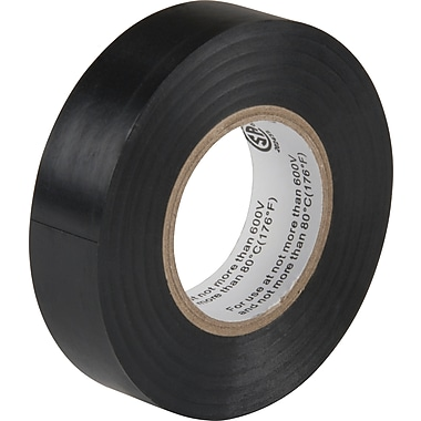 Aurora Tools Electrical Tape, 60', Vinyl Plastic, Black, 100/Pack (XE890)