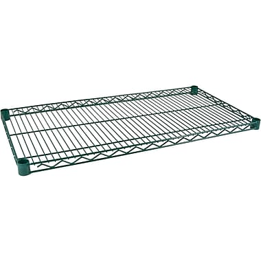 Kleton Green Epoxy Finish Wire Shelving - Shelves, 72