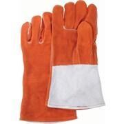 Weld-Mate Welders' Comfoflex Premium Quality Gloves, Split Cowhide, Sock Lining, Large, 12/Pack (610-0328)