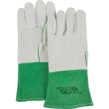 Weld-Mate Welder's Premium Cowhide TIG Gloves, Grain Cowhide, Unlined, Large, 12/Pack (SDL993)