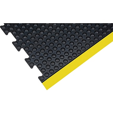 Zenith Safety Anti-Fatigue Dome Mat, 3' x 4', Black, End (SDL864)