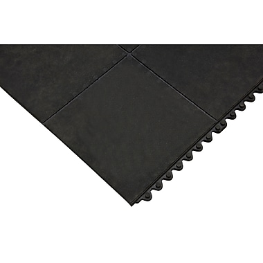 Zenith Safety Anti-Fatigue Mat, 3' x 3', Black (SDS622)