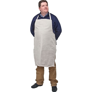 Zenith Safety Cotton Canvas Aprons, White, 24/Pack (SEF215)