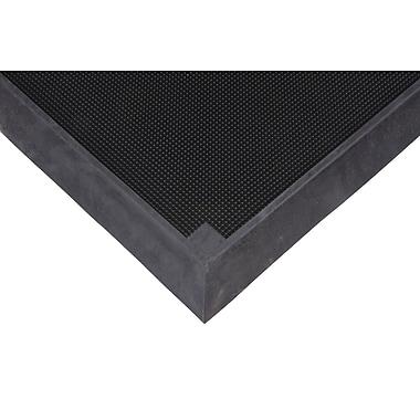 Zenith Safety Foot Sanitizing Mat, 2-2/3' x 3-1/4', Black (SDL873)