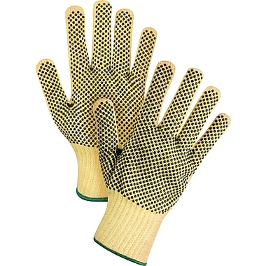 Zenith Safety Kevlar String Knit Gloves With PVC Dots, Kevlar, Both Sides Dotted, 7 Gauge, Extra Large, 12/Pack (SFP803)