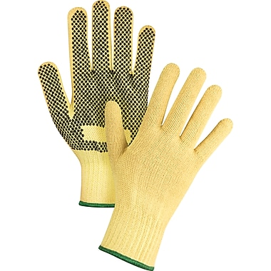 Zenith Safety Kevlar String Knit Gloves With PVC Dots, Kevlar, One Side Dotted, 7 Gauge, Large , 12/Pack (SFP798)