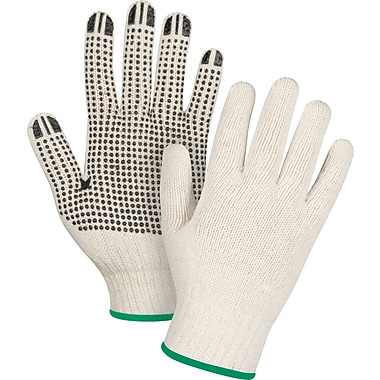 Zenith Safety Natural Poly/Cotton Dotted Gloves, X-Small, 240/Pack (SDS943)