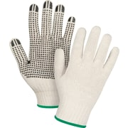 Zenith Safety Natural Poly/Cotton Dotted Gloves