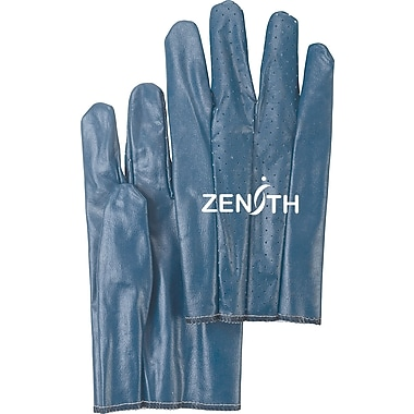 Zenith Safety Nitrile Laminated Gloves, Perforated Back, Medium, 24/Pack (SAJ645)