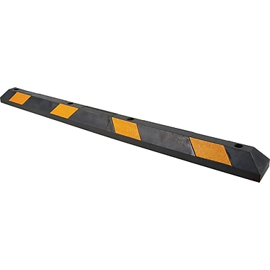 Zenith Safety Parking Curbs, Length: 6', Rubber, Black/Yellow (SEH141)