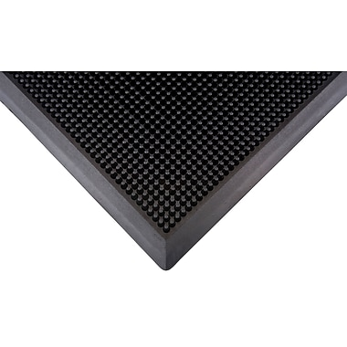Zenith Safety Scraper Mat, 2' x 2-2/3', Black (SFQ527)