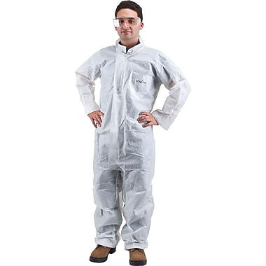 Zenith Safety SMS Protective Clothing, Coveralls, SMS, 4X-Large, White, 12/Pack (SEC834)