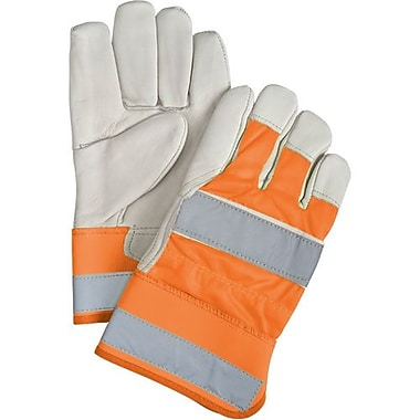 Zenith Safety Superior Quality High-Viz Grain Cowhide Fitters Thinsulate-Lined Gloves, Large, 12/Pack (SEK237)