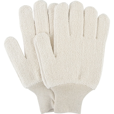 Zenith Safety Terry Cloth Gloves, Heat Resistance, Terry Cloth, Unlined, Knit Wrist, Large, 60/Pack (SDP090)