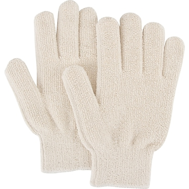 Zenith Safety Terry Cloth Gloves, Heat Resistance, Terry Cloth, Unlined, Slip-On, Large, 60/Pack (SDP089)