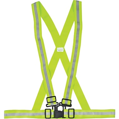 Zenith Safety Traffic Harnesses, High Visibility Lime-Yellow, Medium, 10/Pack (SEF117)