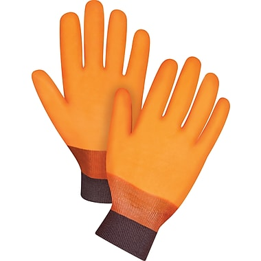 Zenith Safety Winter Lined PVC Gloves, Large, Knit Wrist, Large, 12/Pack (SDN590)