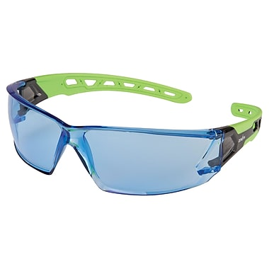 Zenith Safety Z2500 Series Eyewear, Blue, Anti-Scratch, Distortion-Free, 24/Pack (SDN704)