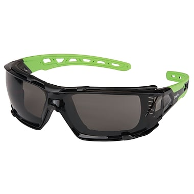 Zenith Safety Z2500 Series Eyewear, Grey/Smoke, Anti-Scratch, Flexible Rubber Arms , 24/Pack (SDN708)