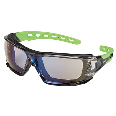 Zenith Safety Z2500 Series Eyewear, Indoor/Outdoor Mirror, Anti-Scratch, Flexible Rubber Arms, 24/Pack (SDN709)