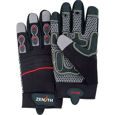 Zenith Safety ZM400 Premium Mechanic Gloves, Large, 3/Pack (SEH740)
