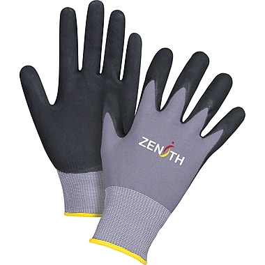 Zenith Safety ZX-1 Premium Nitrile Foam Palm Coated Gloves, Large , 24/Pack (SDP441)