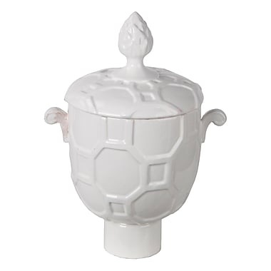 Darby Home Co White Ceramic Vase w/ Lid