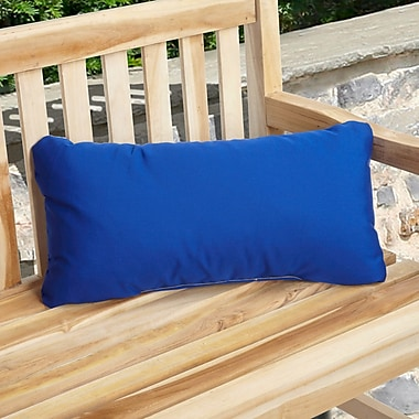 Darby Home Co Deborah Indoor/Outdoor Lumbar Pillow (Set of 2); Cobalt