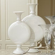Darby Home Co Trumpet White Crackle Vase; Large