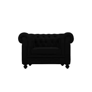Darby Home Co Dolores Arm Chair; Black
