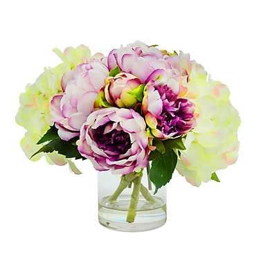 Darby Home Co Hydrangea and Peony Floral Arrangement