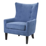 Darby Home Co Chancey Shelter Wingback Chair; Blue