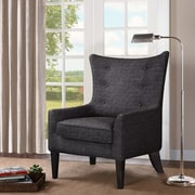 Darby Home Co Chancey Shelter Wingback Chair; Charcoal