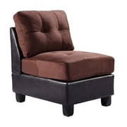 Darby Home Co Oregon Slipper Chair; Chocolate
