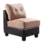 Darby Home Co Oregon Slipper Chair; Mocha