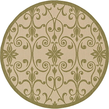 Darby Home Co Bayridge Light Green Outdoor Area Rug; Square 6'