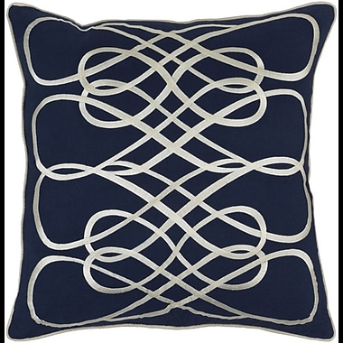 Darby Home Co Powell Throw Pillow Cover; Blue/Neutral