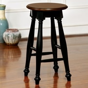 Darby Home Co Amandes 24'' Bar Stool (Set of 2); Black