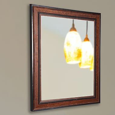 Darby Home Co Country Pine Wall Mirror; 34'' H x 22'' W