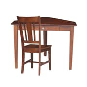 Darby Home Co Bovingdon Storage Drawer Corner Writing Desk; With Chair