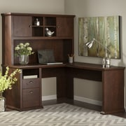 Darby Home Co Watertown L-Shaped Executive Desk w/ Hutch