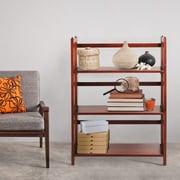 Charlton Home Gosebourne 38'' Standard Bookcase; Brown