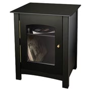 Charlton Home Leigh Entertainment Audio Cabinet Stand; Black