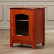 Charlton Home Leigh Entertainment Audio Cabinet Stand; Paprika