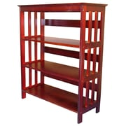 Charlton Home Julius 36'' Standard Bookcase; Cherry