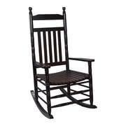 Charlton Home Ballett Adult Rocking Chair; Espresso