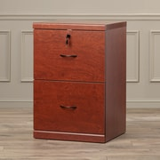 Charlton Home Berkhead 2 Drawer File Cabinet; Cherry